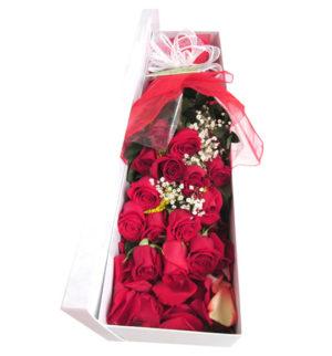 caja de rosas rojas a domicilio en bogota