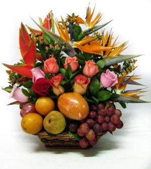 canasta de frutas para regalar bogota