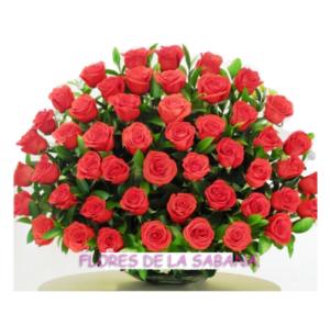 arreglo de rosas rojas grandes bogota