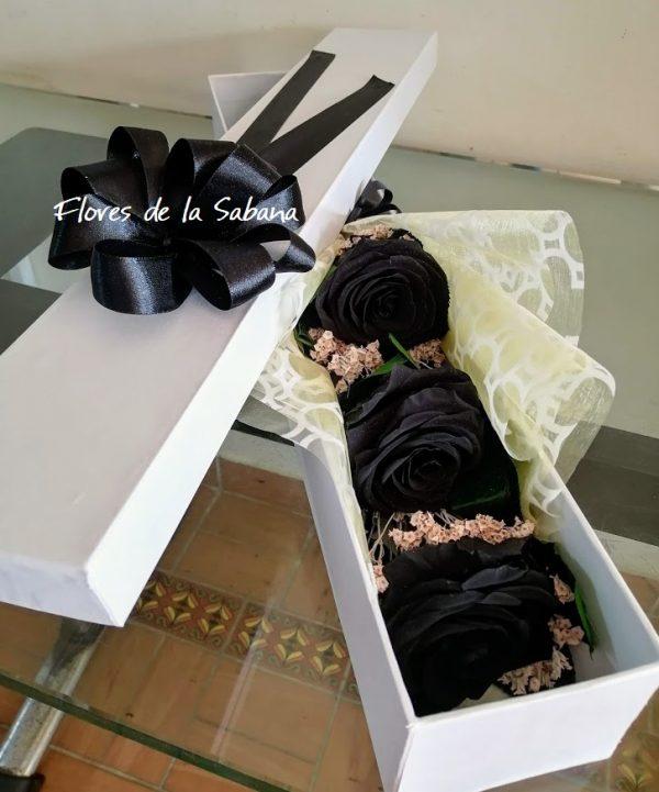 comprar rosas negras naturales bogota